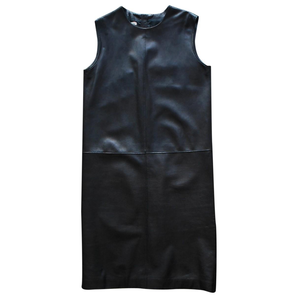 Hermes - Robe   pour femme en cuir - noir