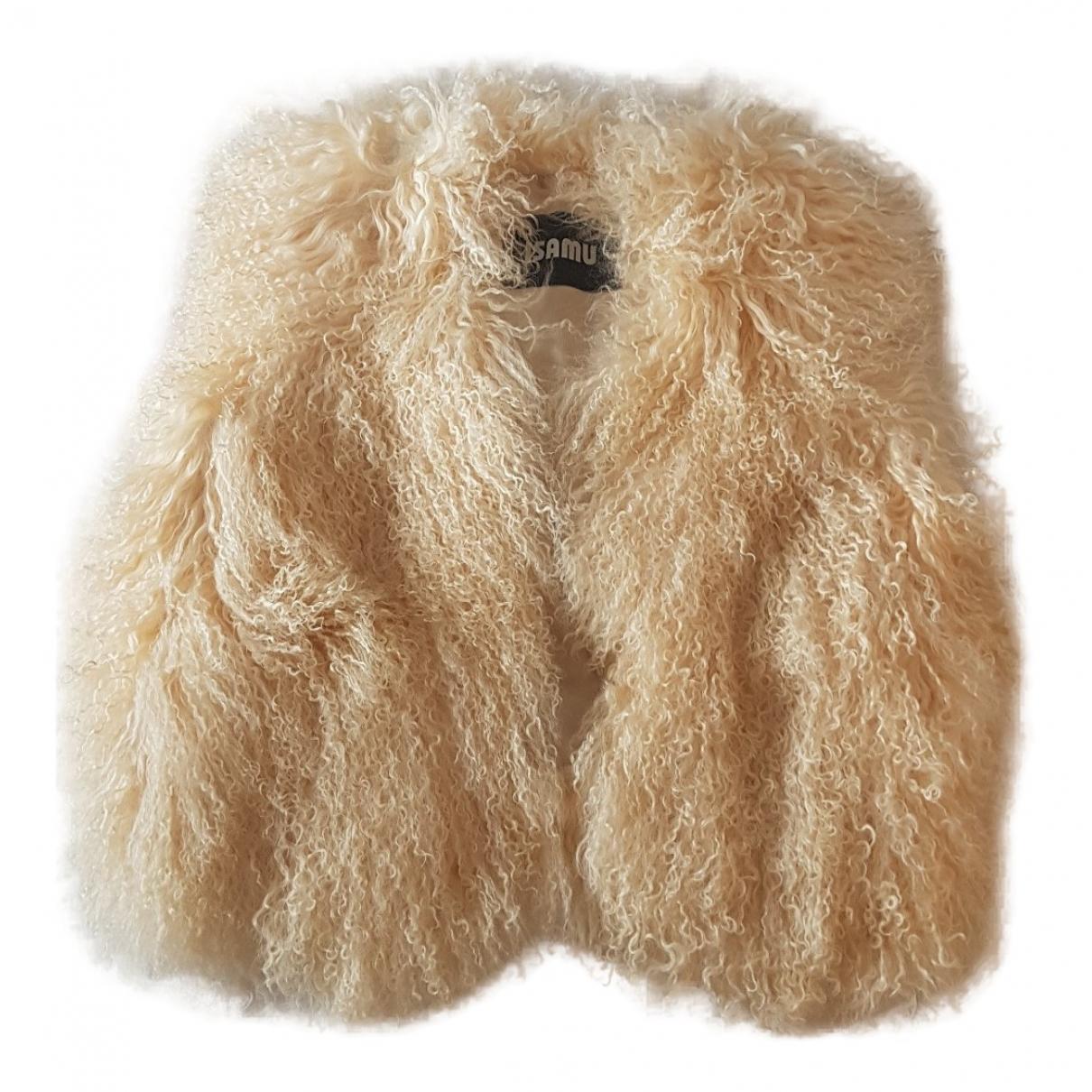 - Pull   pour femme en agneau de mongolie - beige