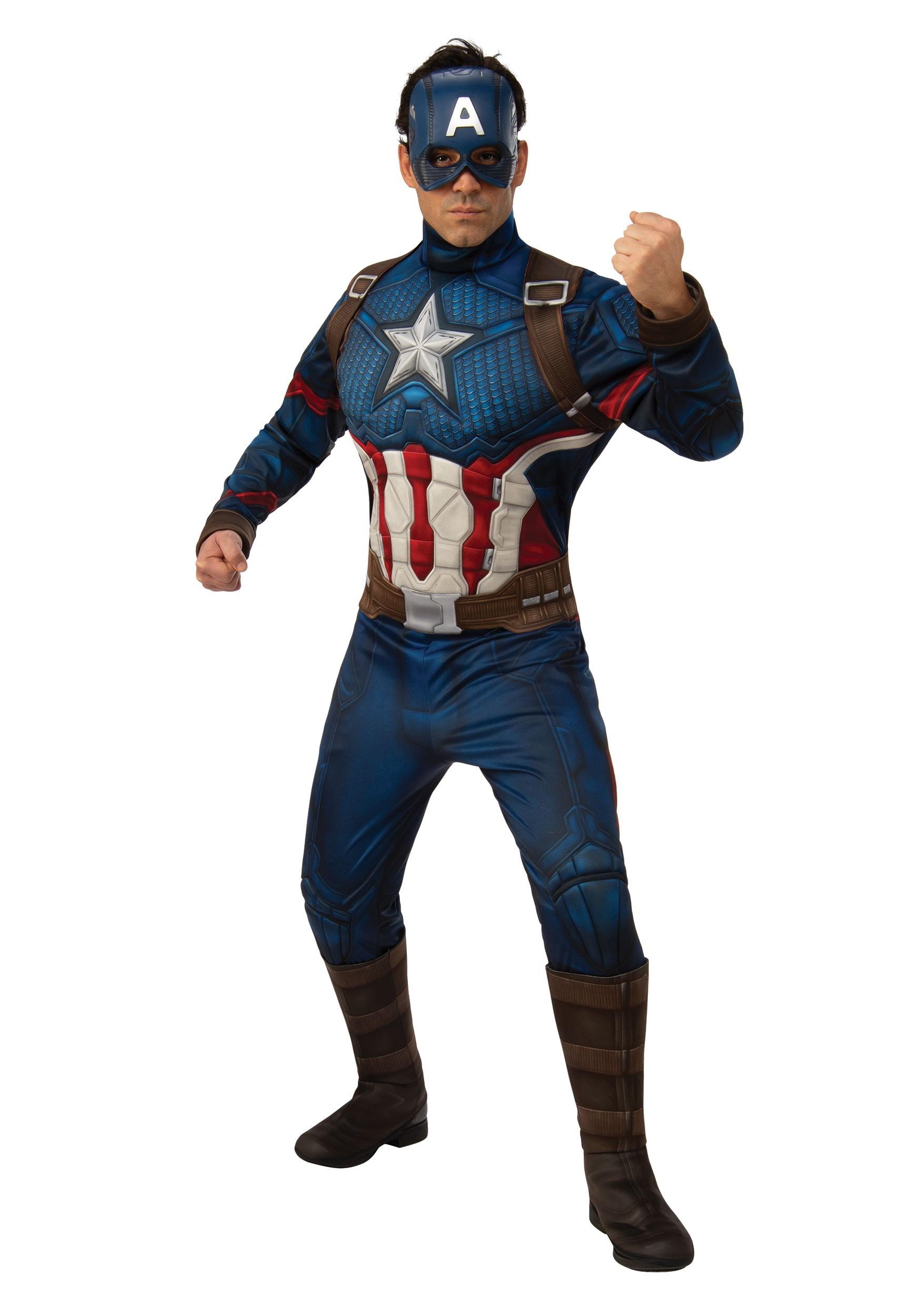 Avengers Endgame Deluxe Captain America Costume for Men