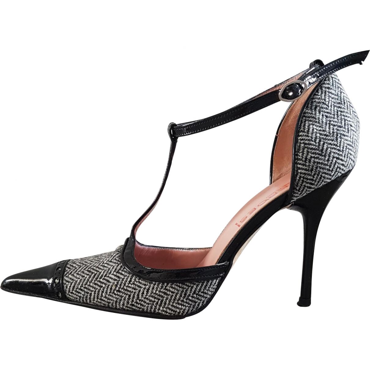 Cesare Paciotti \N Black Tweed Heels for Women 38 EU