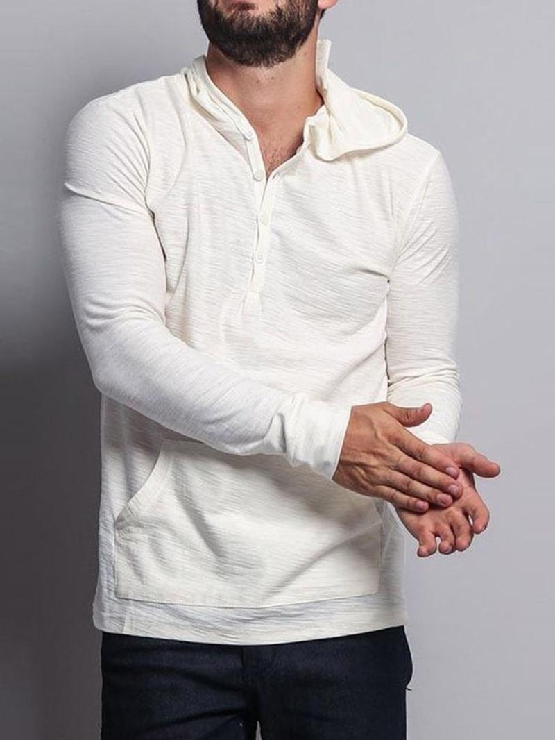 Ericdress Plain Pocket Pullover Pullover Hooded Hoodies