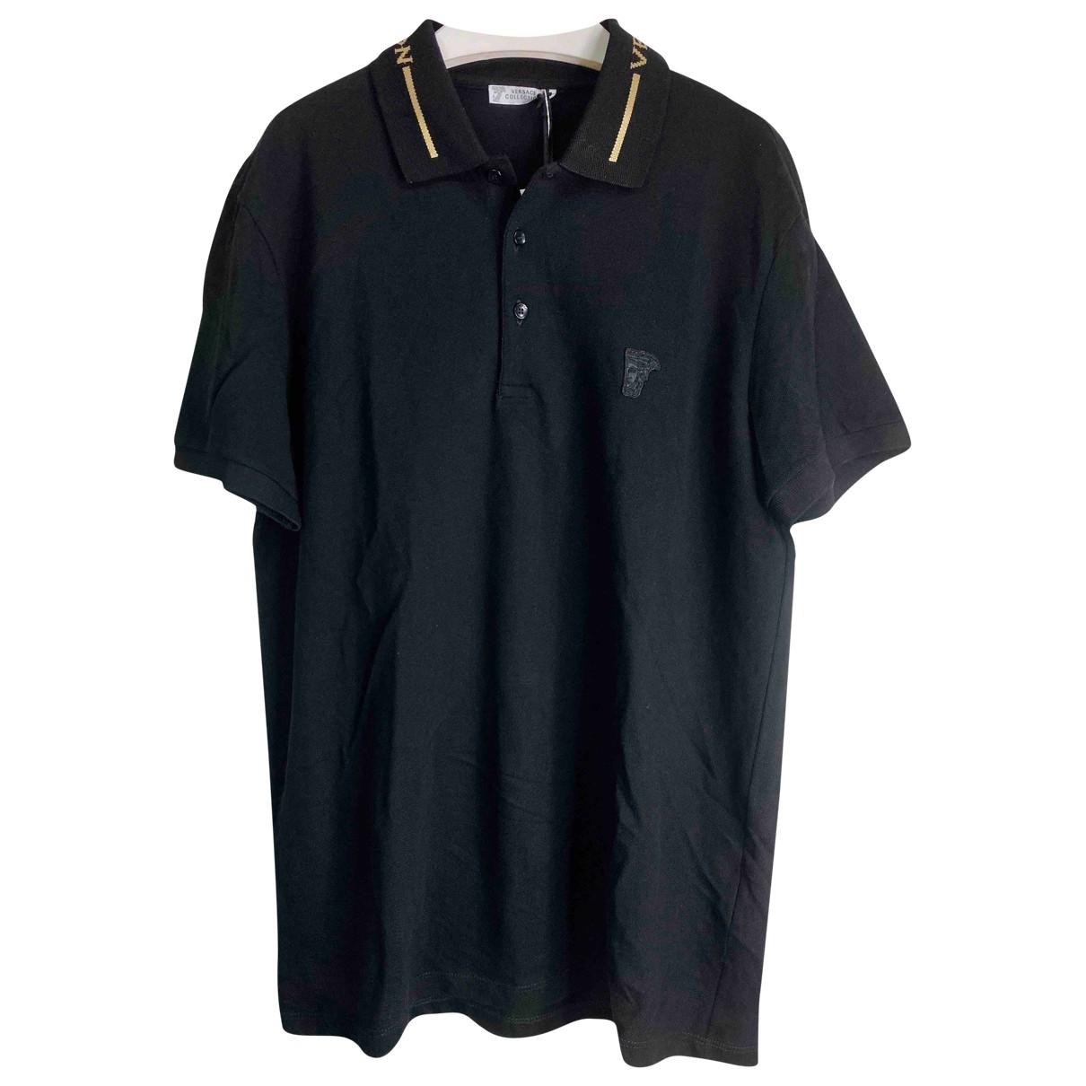 Versace - Polos   pour homme en coton - noir