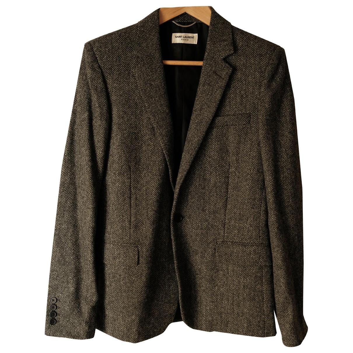 Saint Laurent - Vestes.Blousons   pour homme en laine - gris