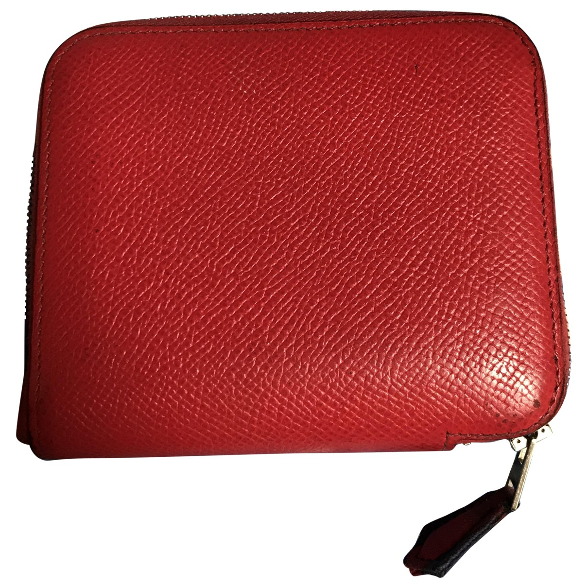 Hermès Silk'in Red Leather wallet for Women \N