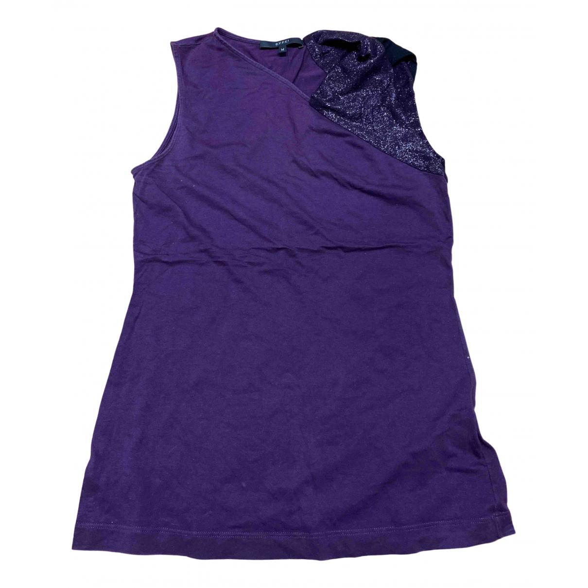Gucci - Top   pour femme en coton - violet