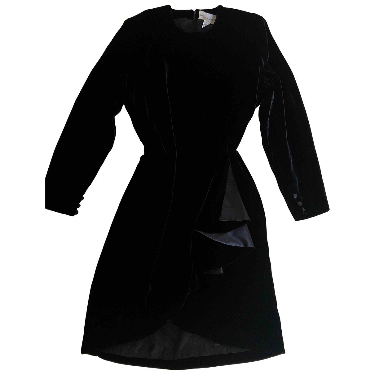 Mila Schon Concept \N Kleid in  Schwarz Viskose