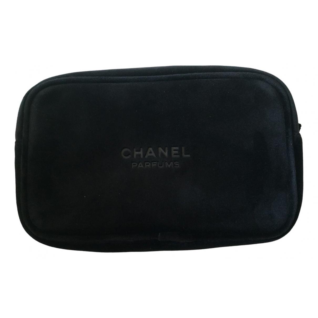 Chanel - Sac de voyage   pour femme en velours - noir