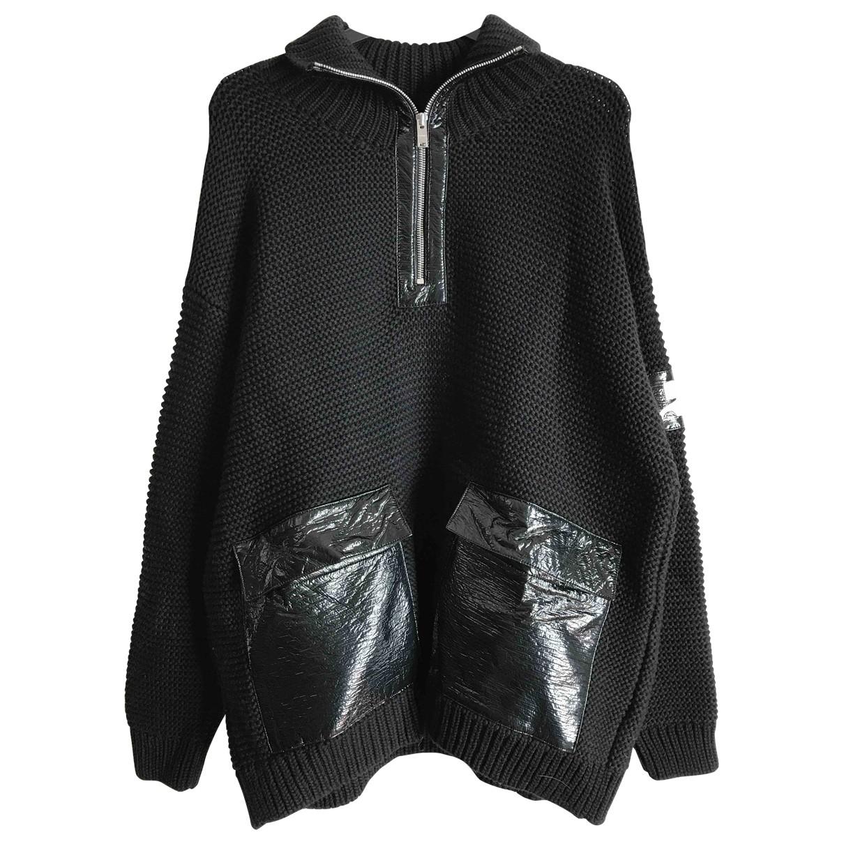 Courreges - Pull   pour femme en coton - noir