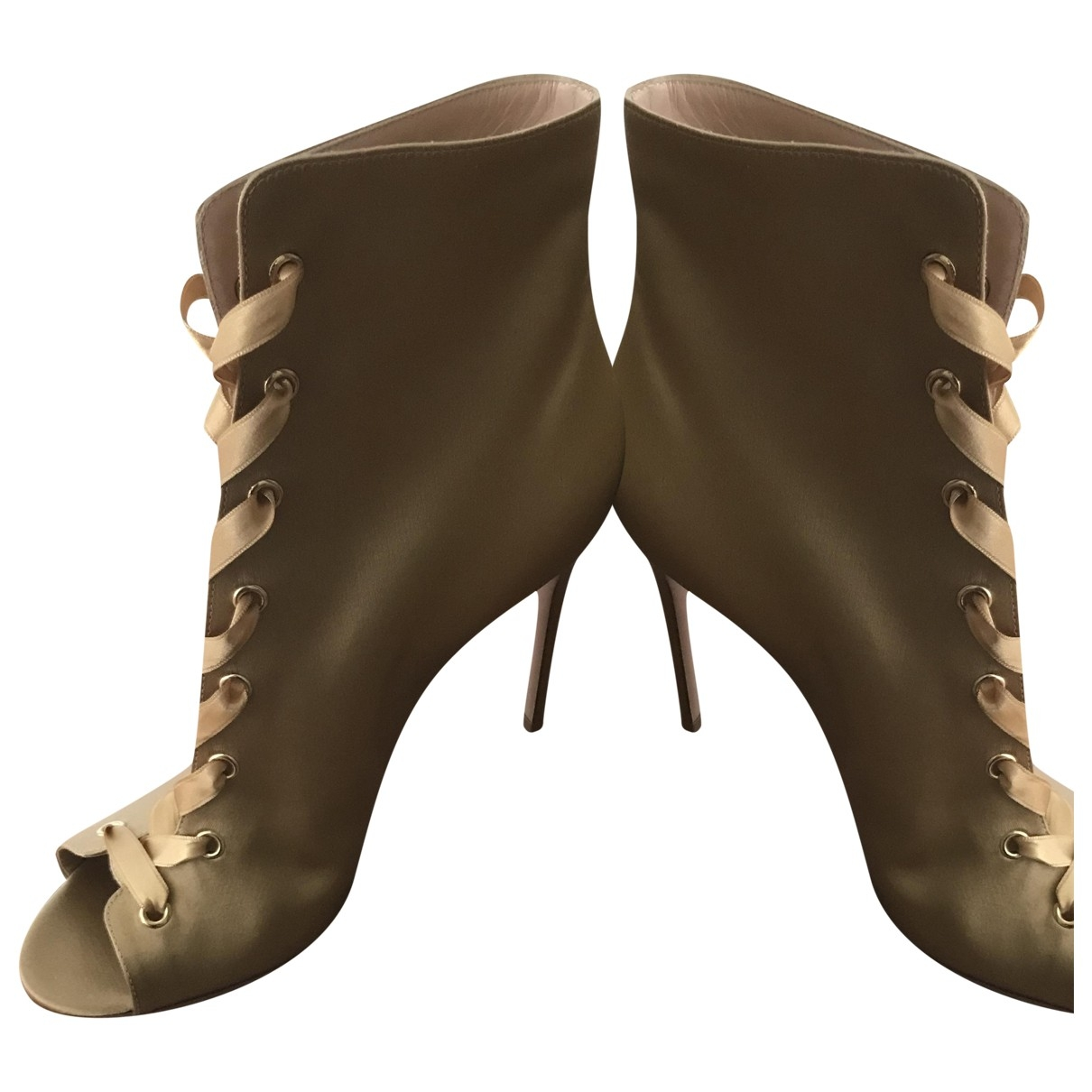 Gianvito Rossi \N Stiefeletten in  Gold Polyester
