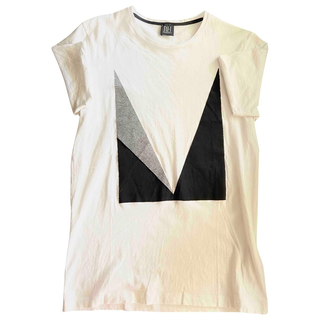 Pedro Del Hierro - Tee shirts   pour homme en coton - blanc