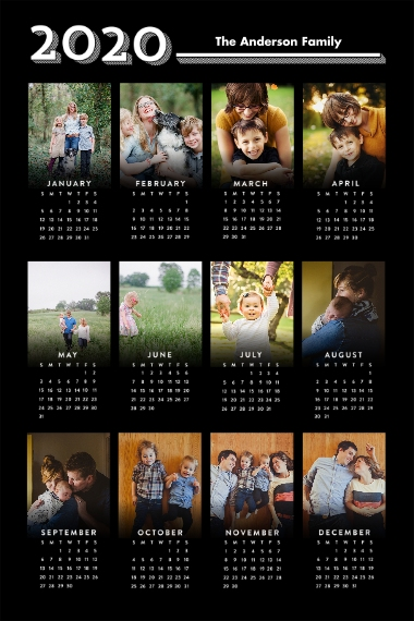 Calendar 24x36 Poster , Home Décor -Graphic Year
