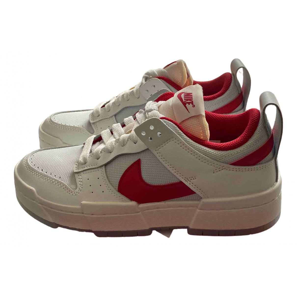 Nike SB Dunk  Red Leather Trainers for Women 38 EU