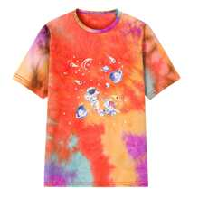 Men Tie Dye & Galaxy Print Tee