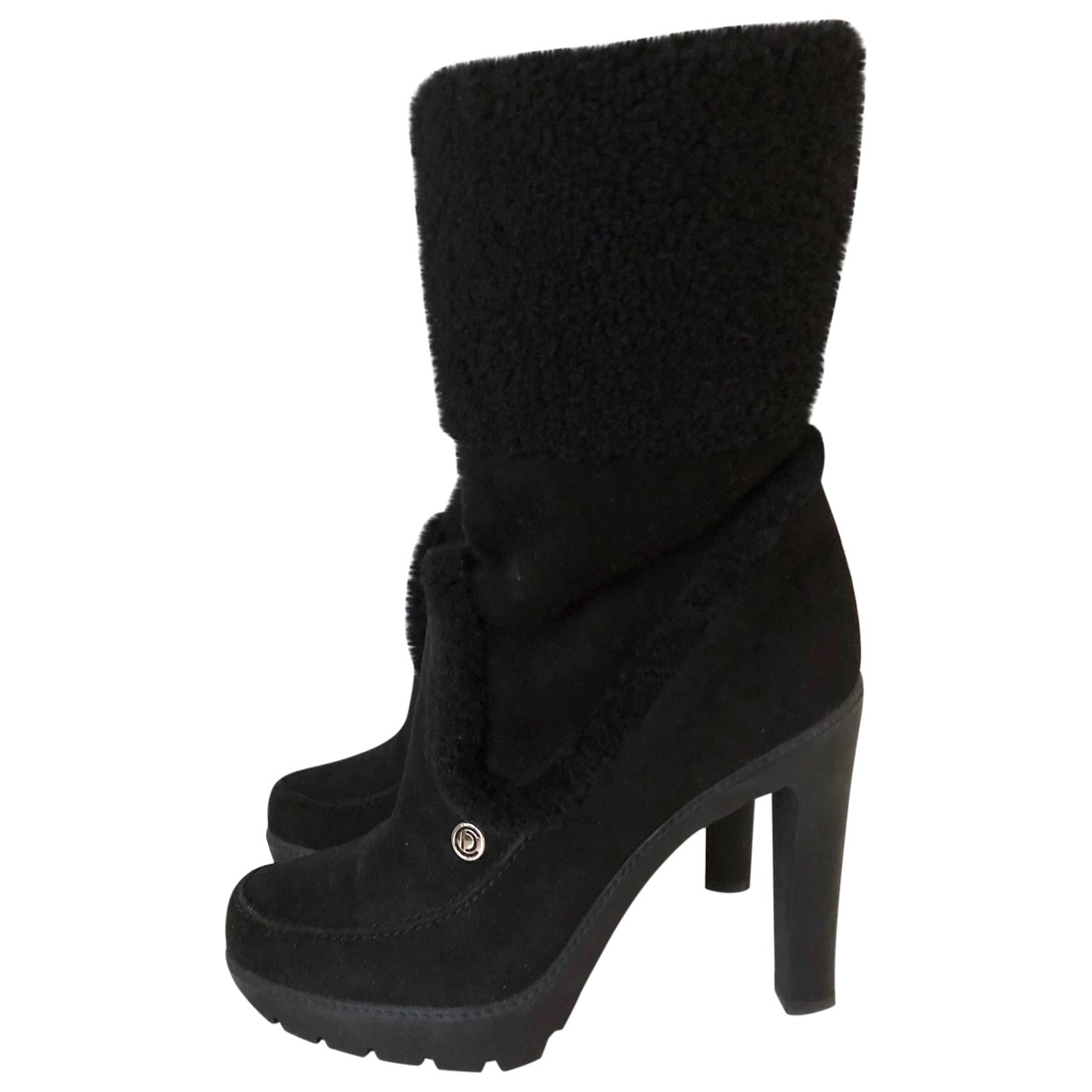 Dior \N Black Suede Ankle boots for Women 39.5 EU