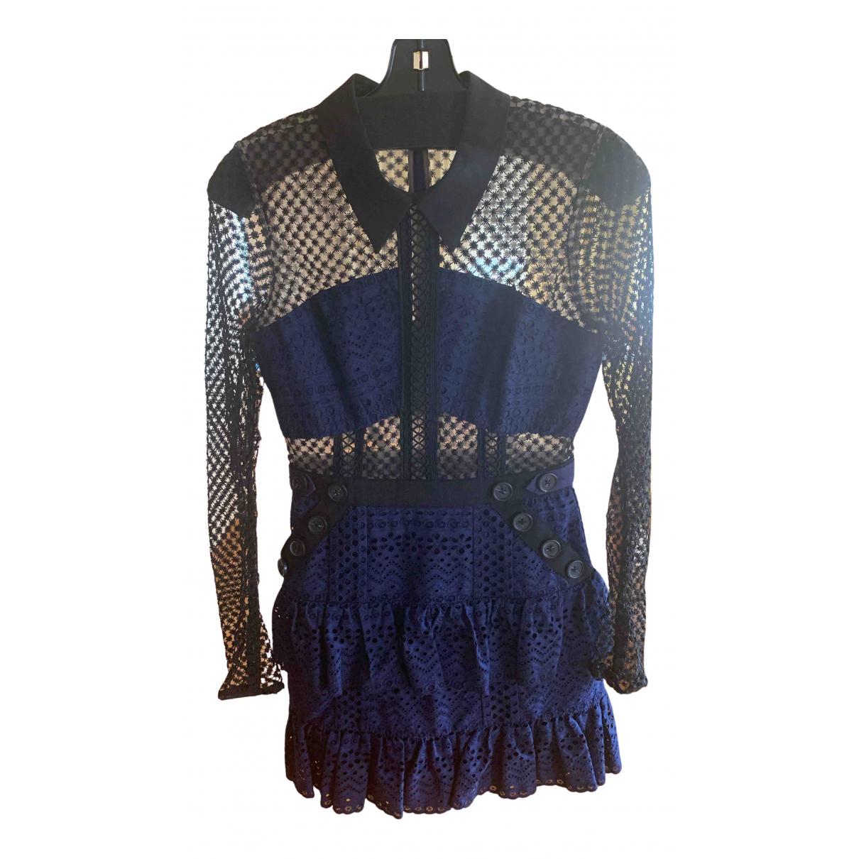 Self Portrait N Blue dress for Women 8 UK