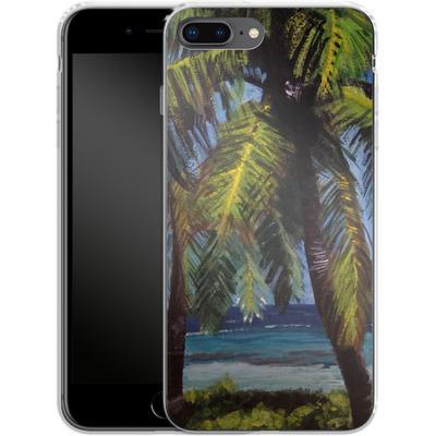 Apple iPhone 7 Plus Silikon Handyhuelle - Palms von Kaitlyn Parker