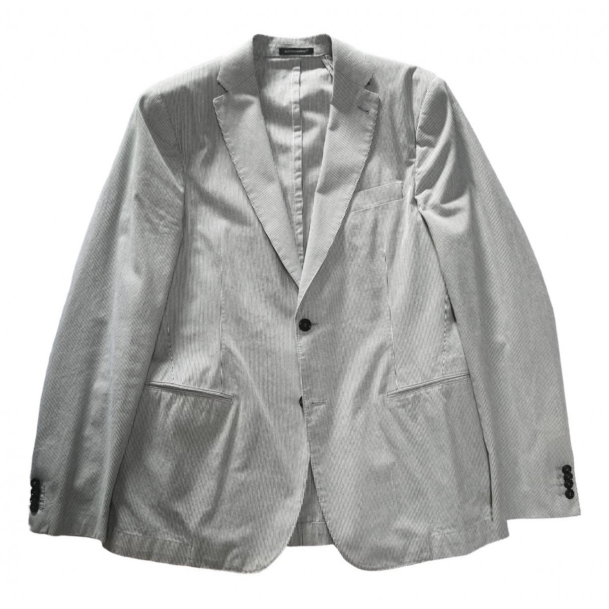 Daniele Alessandrini \N White Cotton jacket  for Men 52 IT