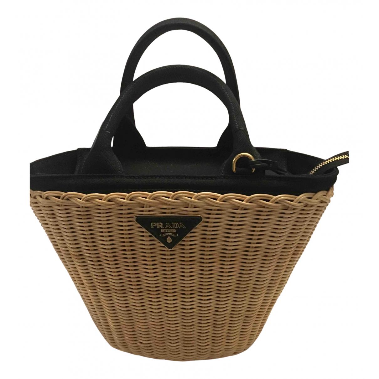 Prada N Black Wicker handbag for Women N