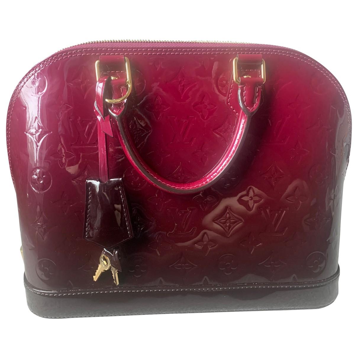Louis Vuitton - Sac a main Alma pour femme en cuir verni - violet