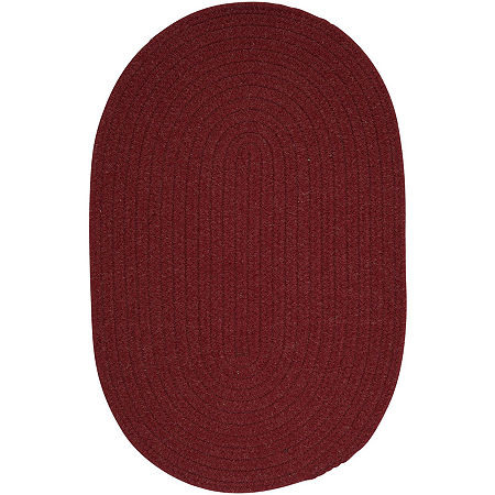 Colonial Mills Timberline Reversible Braided Oval Rug, One Size , Red