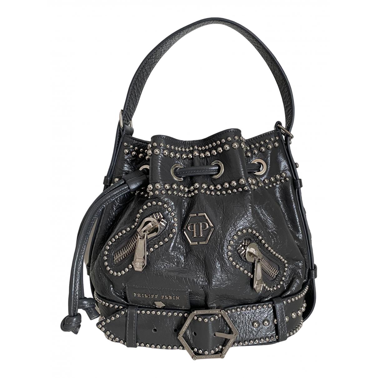 Philipp Plein N Grey Leather handbag for Women N