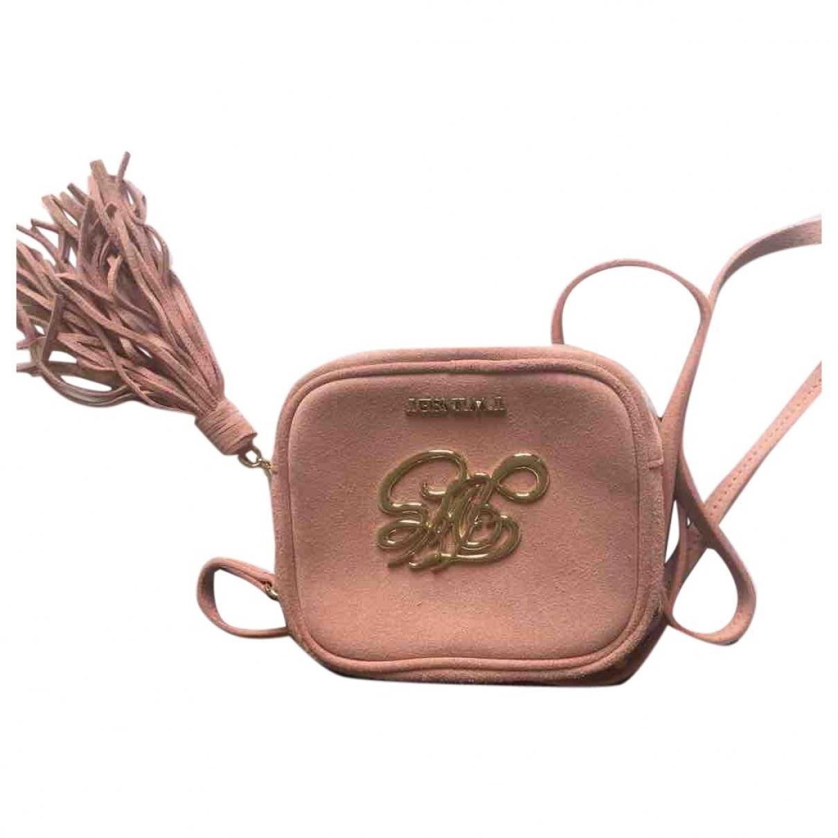 Twin Set \N Pink Suede handbag for Women \N