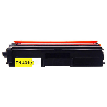 Brother TN431Y Compatible Yellow Toner Cartridge 1800 Pages - Economical Box