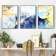 3pcs Graphic Print Wall Painting Without Frame