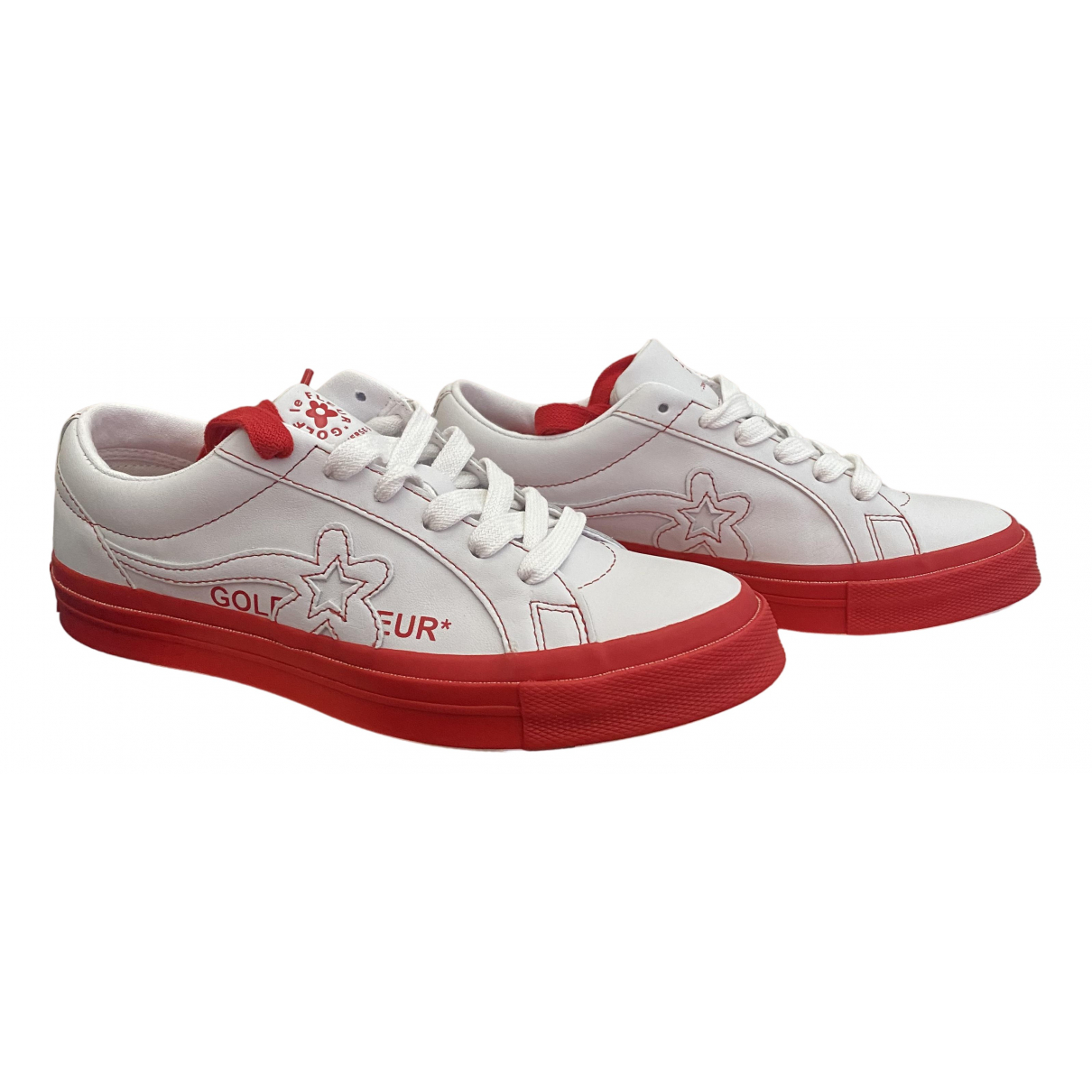 Converse X Golf Le Fleur \N Sneakers in  Rot Leinen
