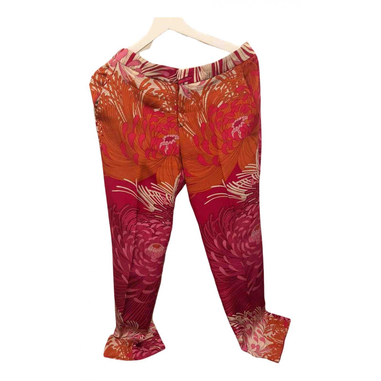 Pantalon largo de Seda Gucci