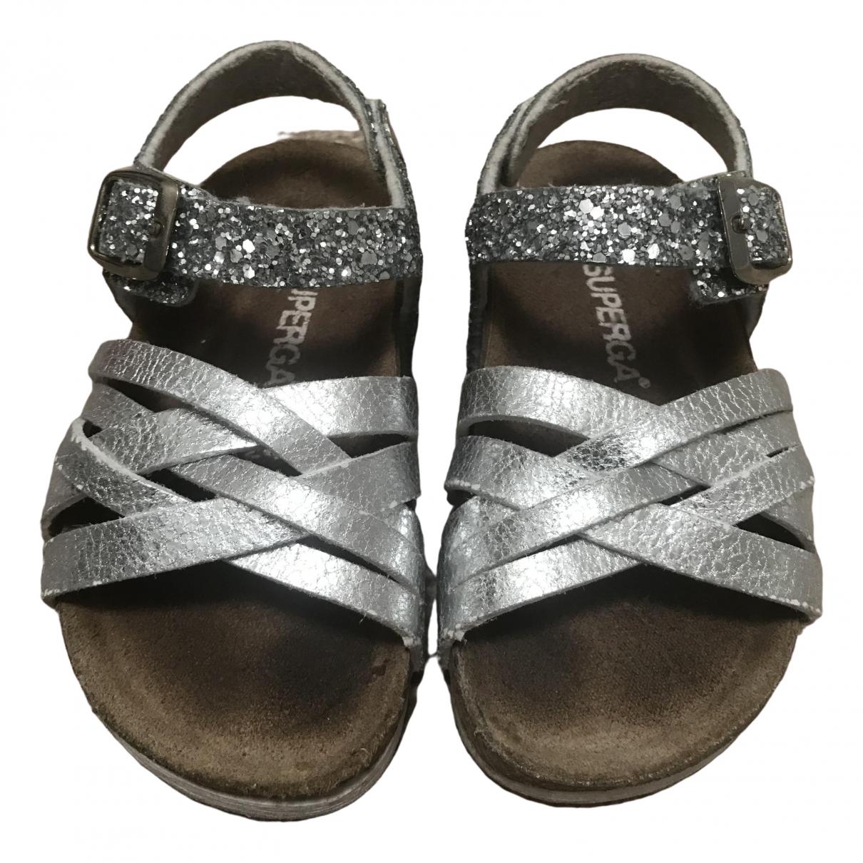 Superga \N Silver Glitter Sandals for Kids 24 EU