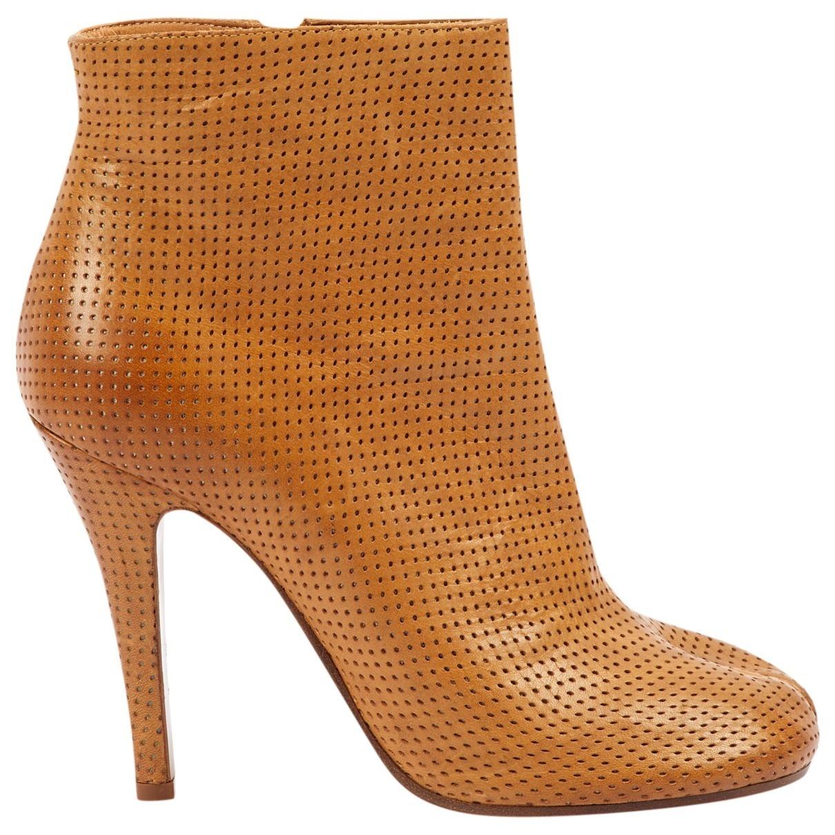 Maison Martin Margiela - Boots Tabi pour femme en cuir - marron