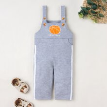 Toddler Boys Letter Graphic Tape Side Jumpsuit