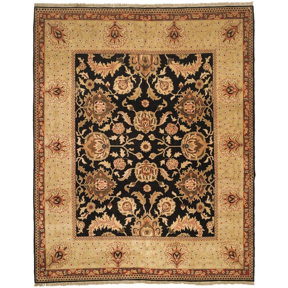 Safavieh Oushak Hand-knotted Tabaz Wool Rug (Black/Ivory 8' x 10')