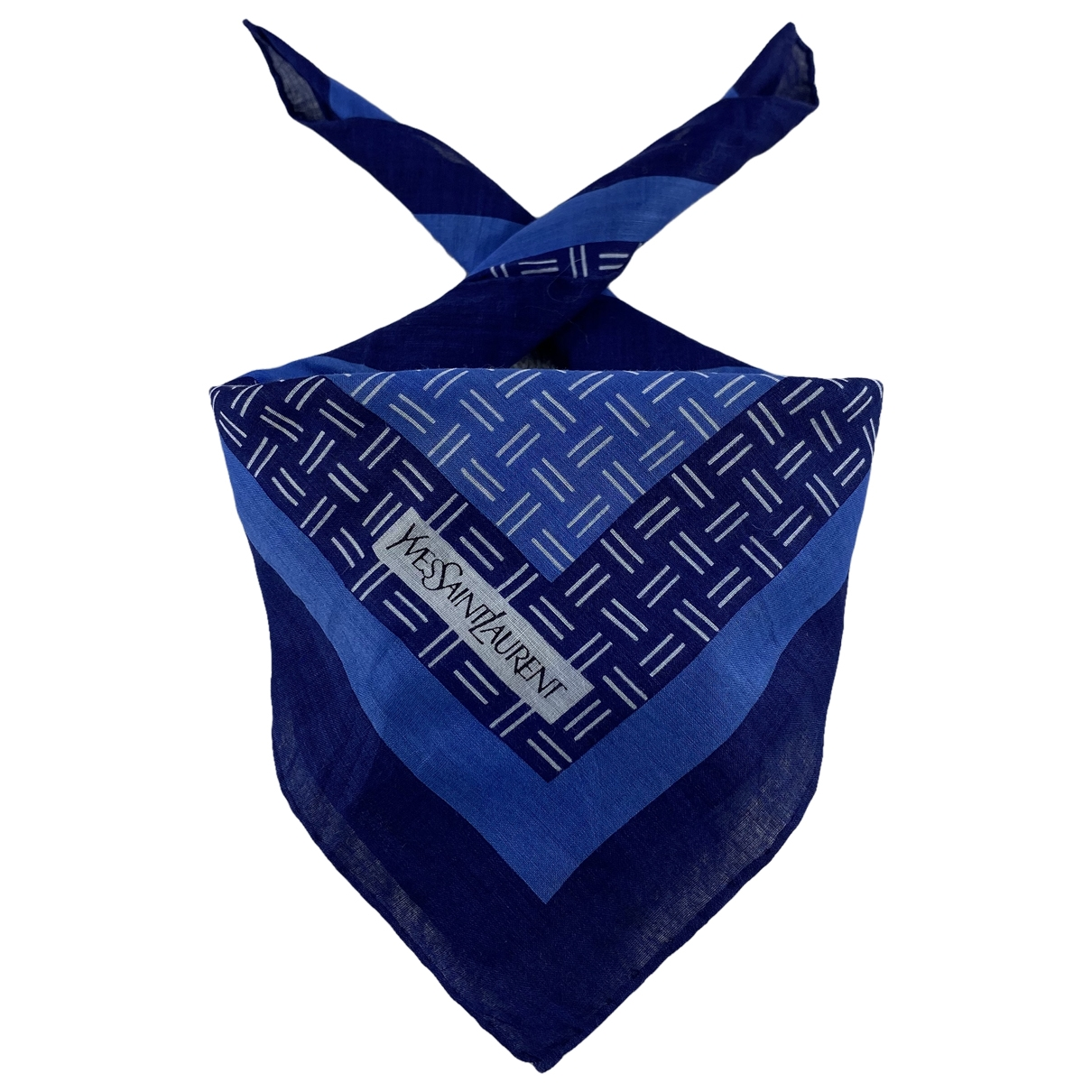 Yves Saint Laurent \N Schal in  Blau Baumwolle