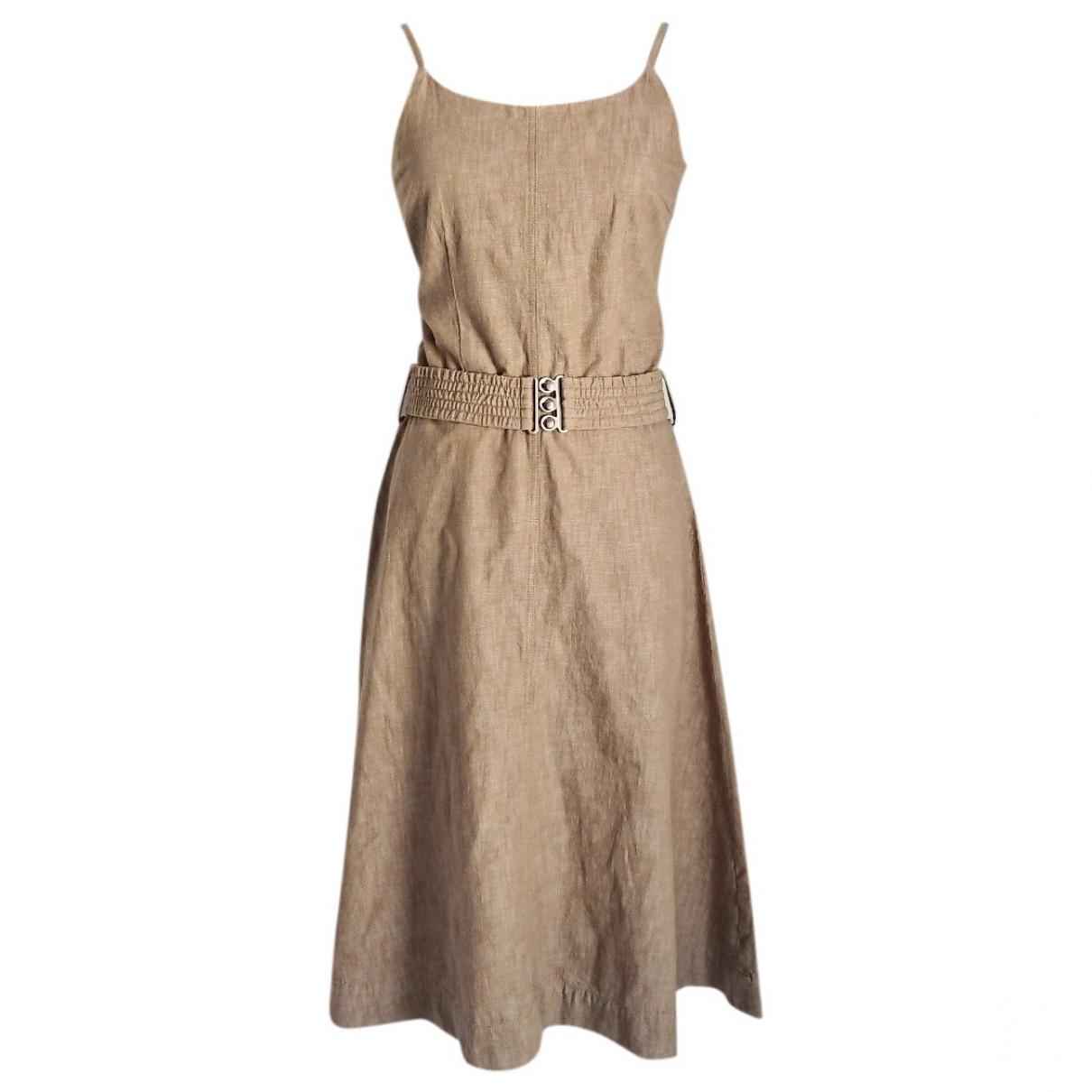 Dkny \N Kleid in  Beige Baumwolle