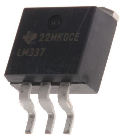 Texas Instruments , -37 → -1.2 V Linear Voltage Regulator, 1.5A, 1-Channel Negative, Adjustable 3-Pin, D2PAK (5)