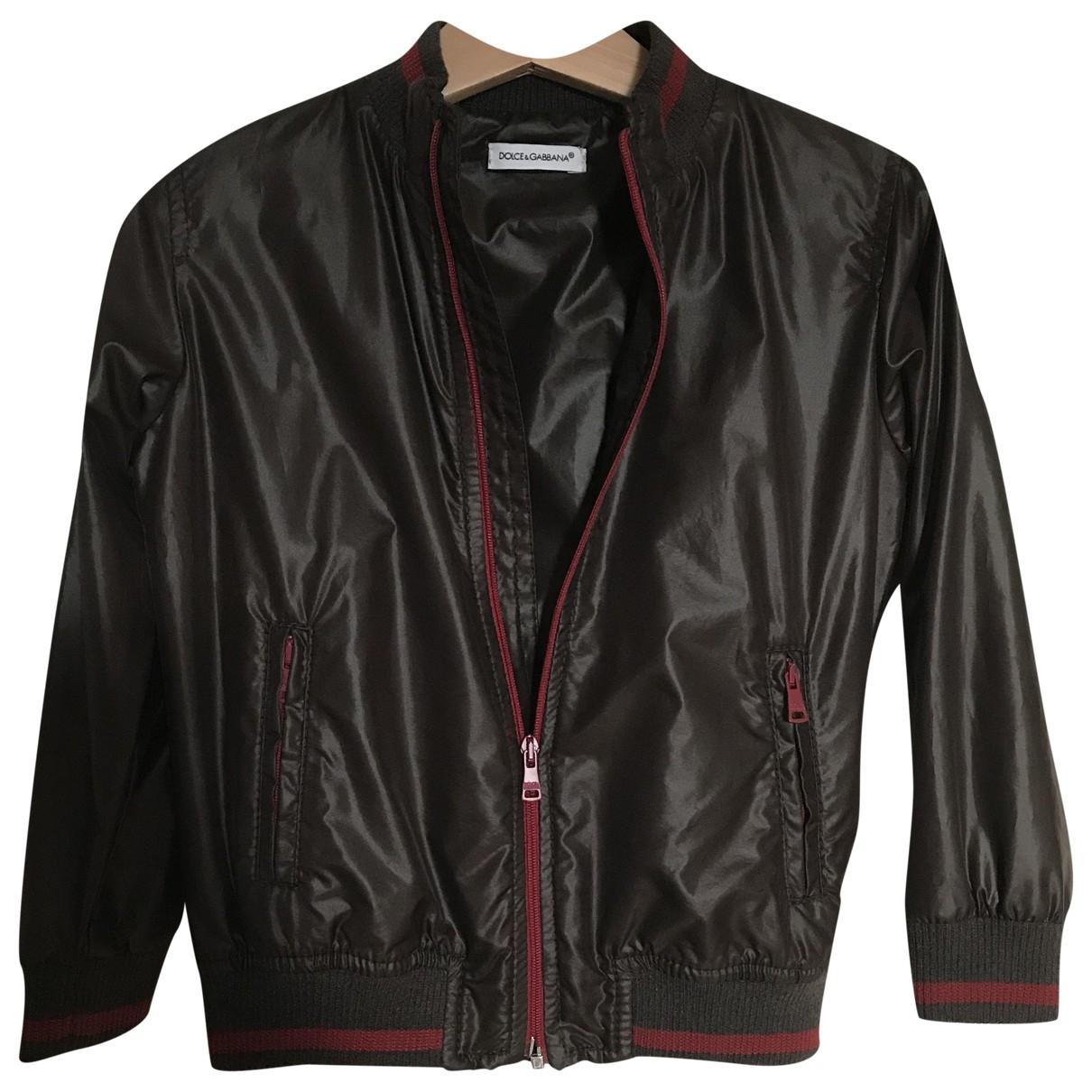 Dolce & Gabbana \N Jacke, Maentel in  Braun Polyester