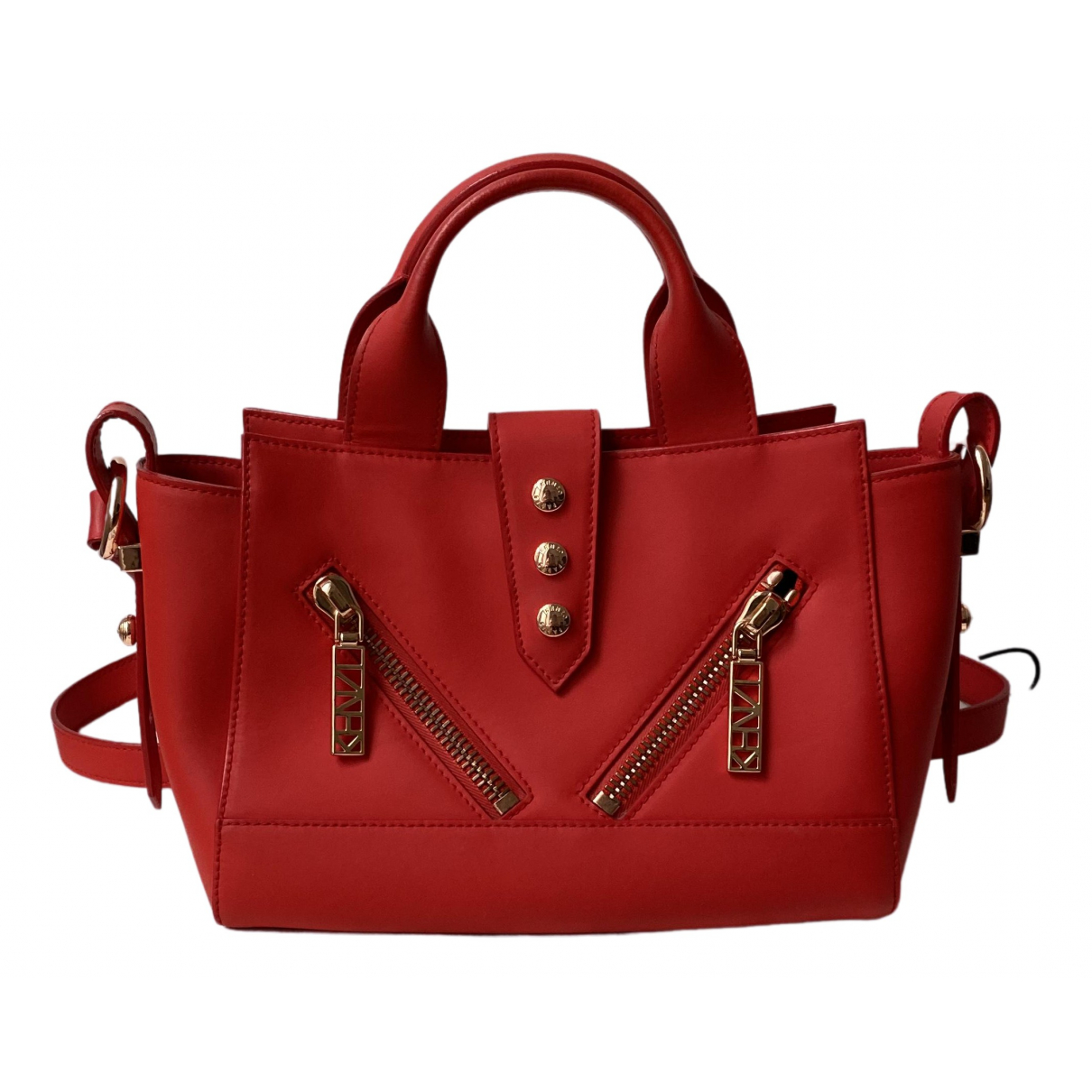 Kenzo Kalifornia Handtasche in  Rot Leder