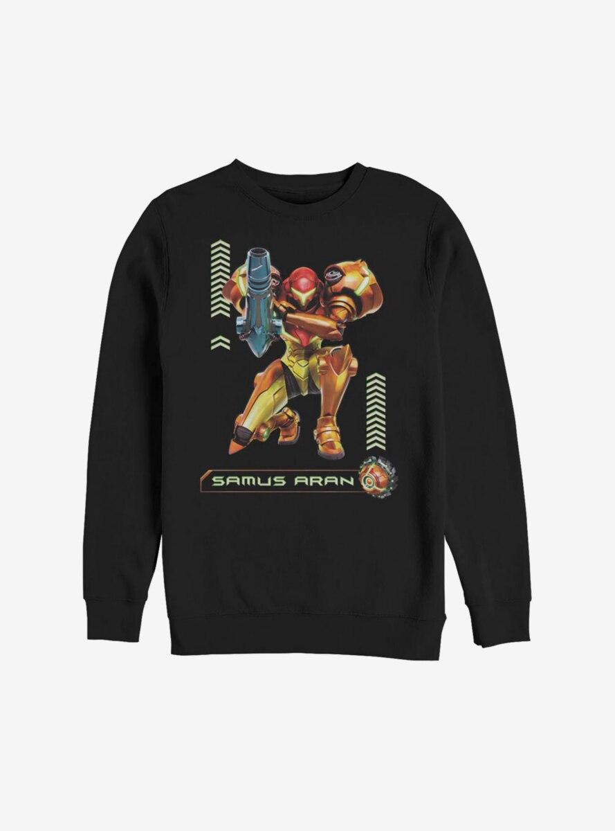 Nintendo Samus Aran Samus And Ball Sweatshirt