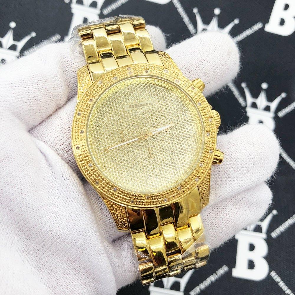 Gold Clean Chrono .25 Carat Diamond Hip Hop Watch JoJino