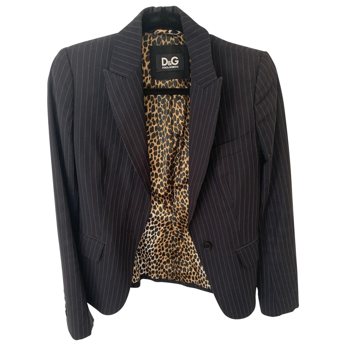 D&g \N Black Wool jacket for Women 38 FR