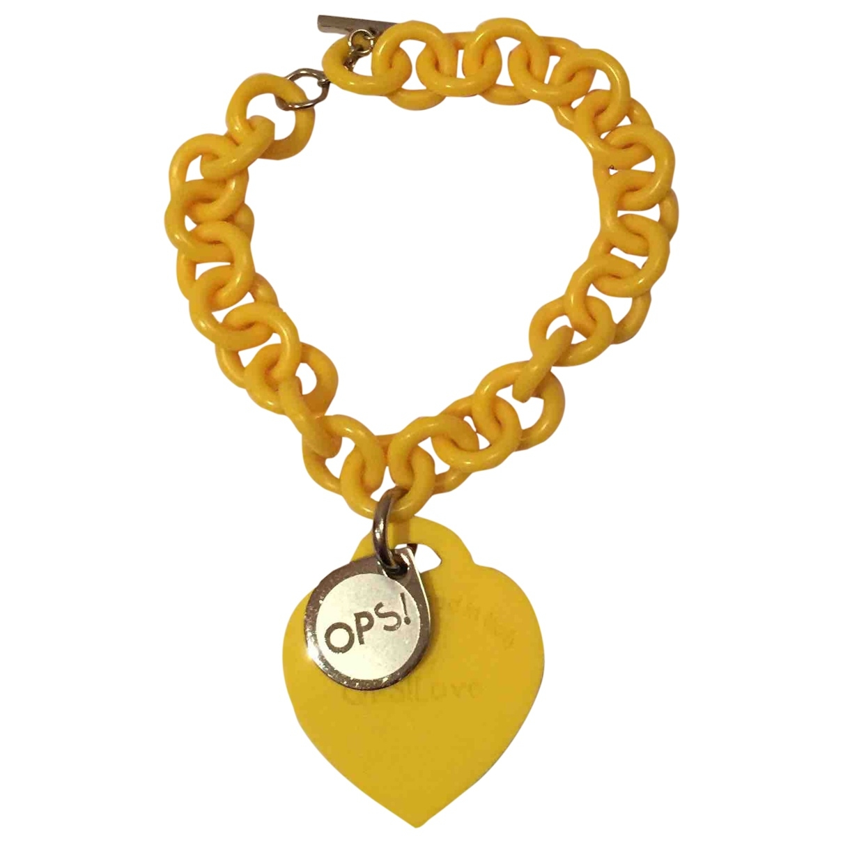 Non Signé / Unsigned \N Yellow bracelet for Women \N