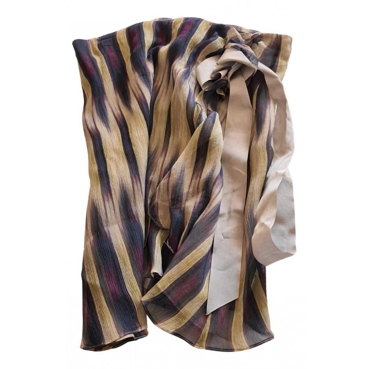 Emporio Armani - Jupe   pour femme en soie - bleu
