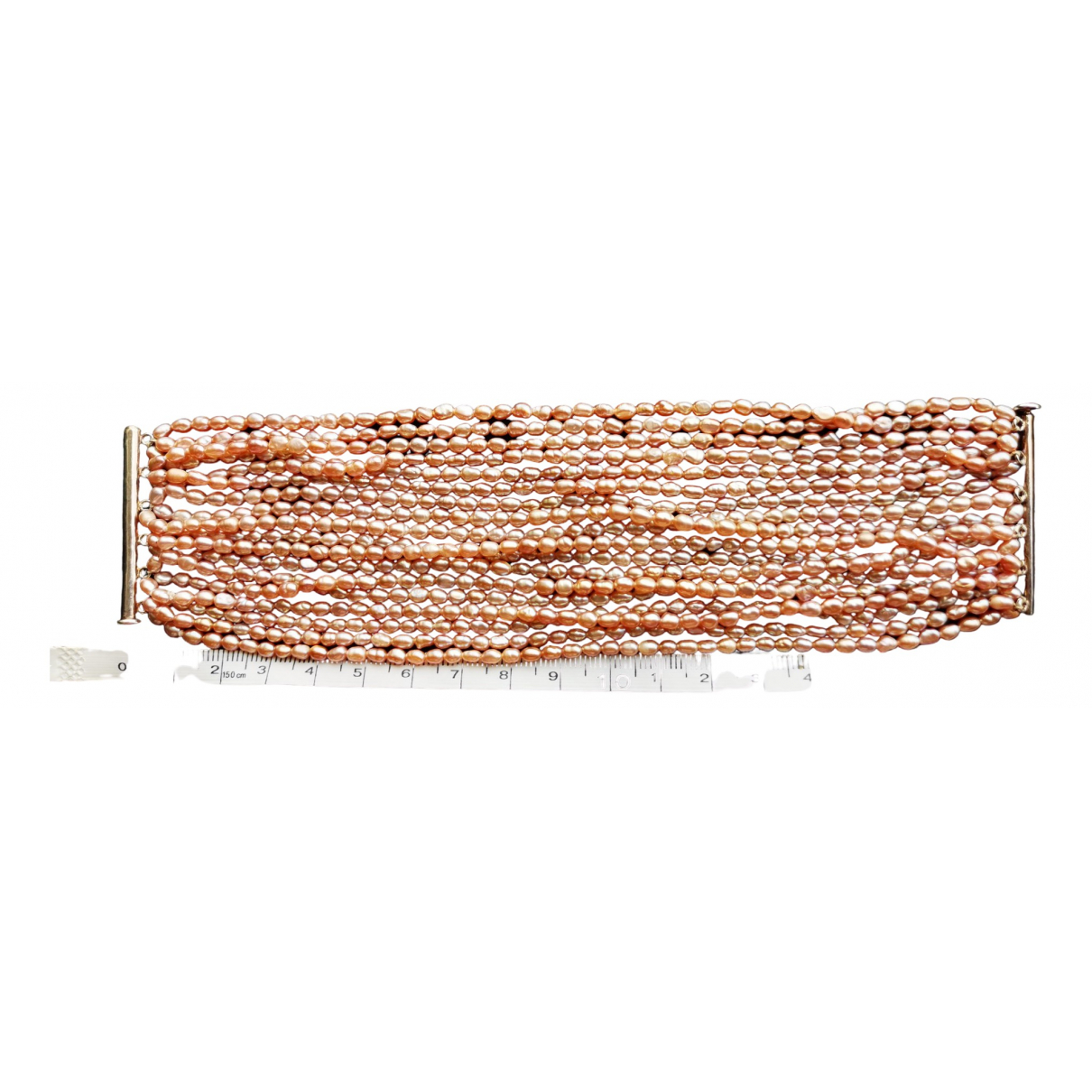 Non Signe / Unsigned \N Armband in  Rosa Perlen