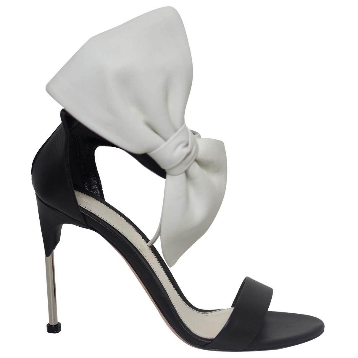 Sandalias de Cuero Alexander Mcqueen