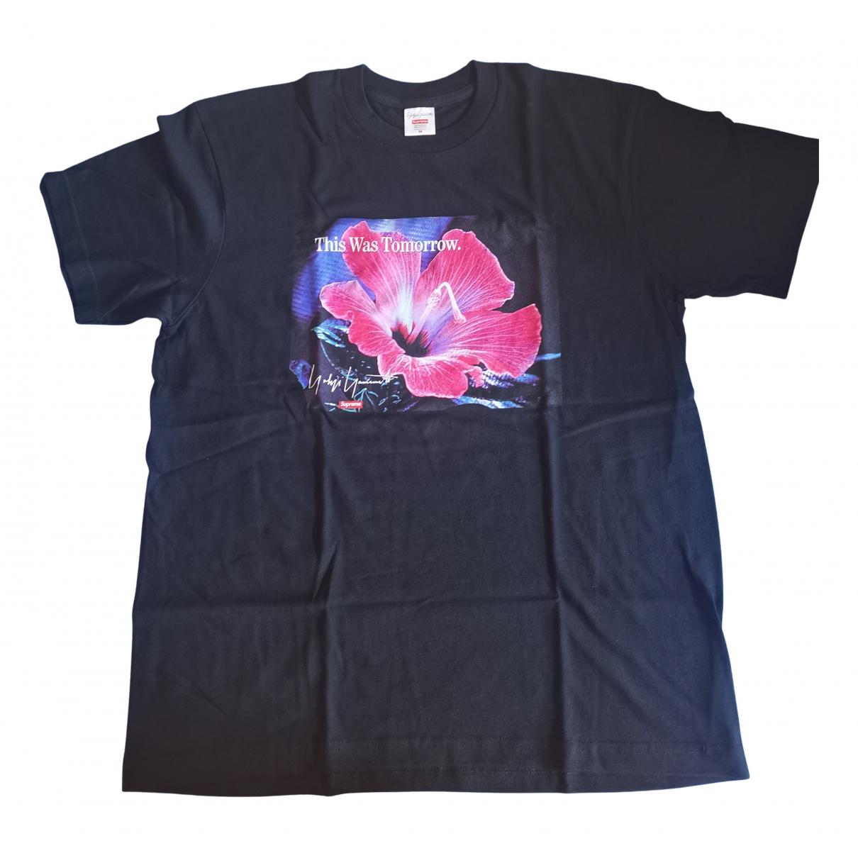 Supreme X Yohji Yamamoto - Tee shirts   pour homme en coton - noir