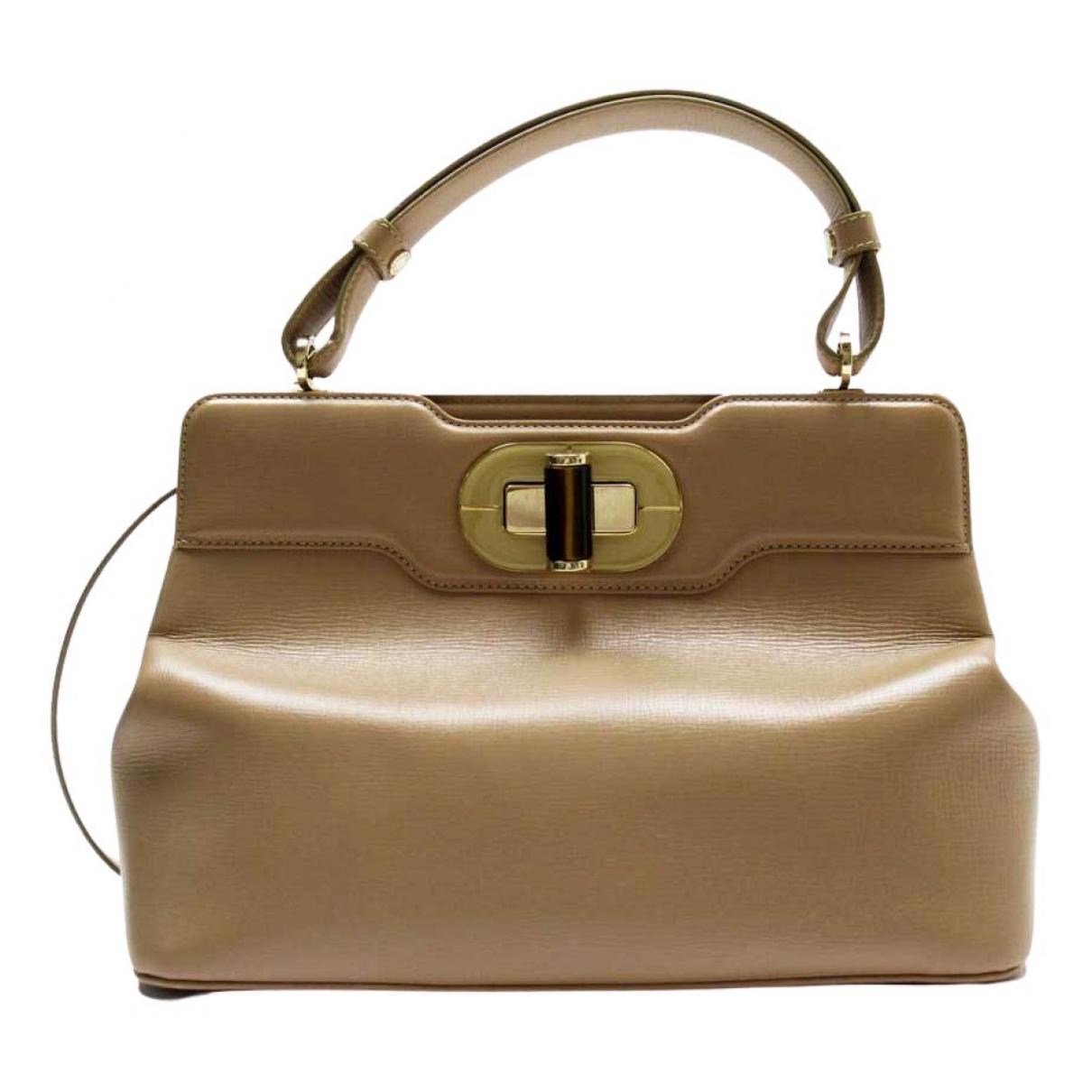 Bvlgari \N Beige Leather handbag for Women \N