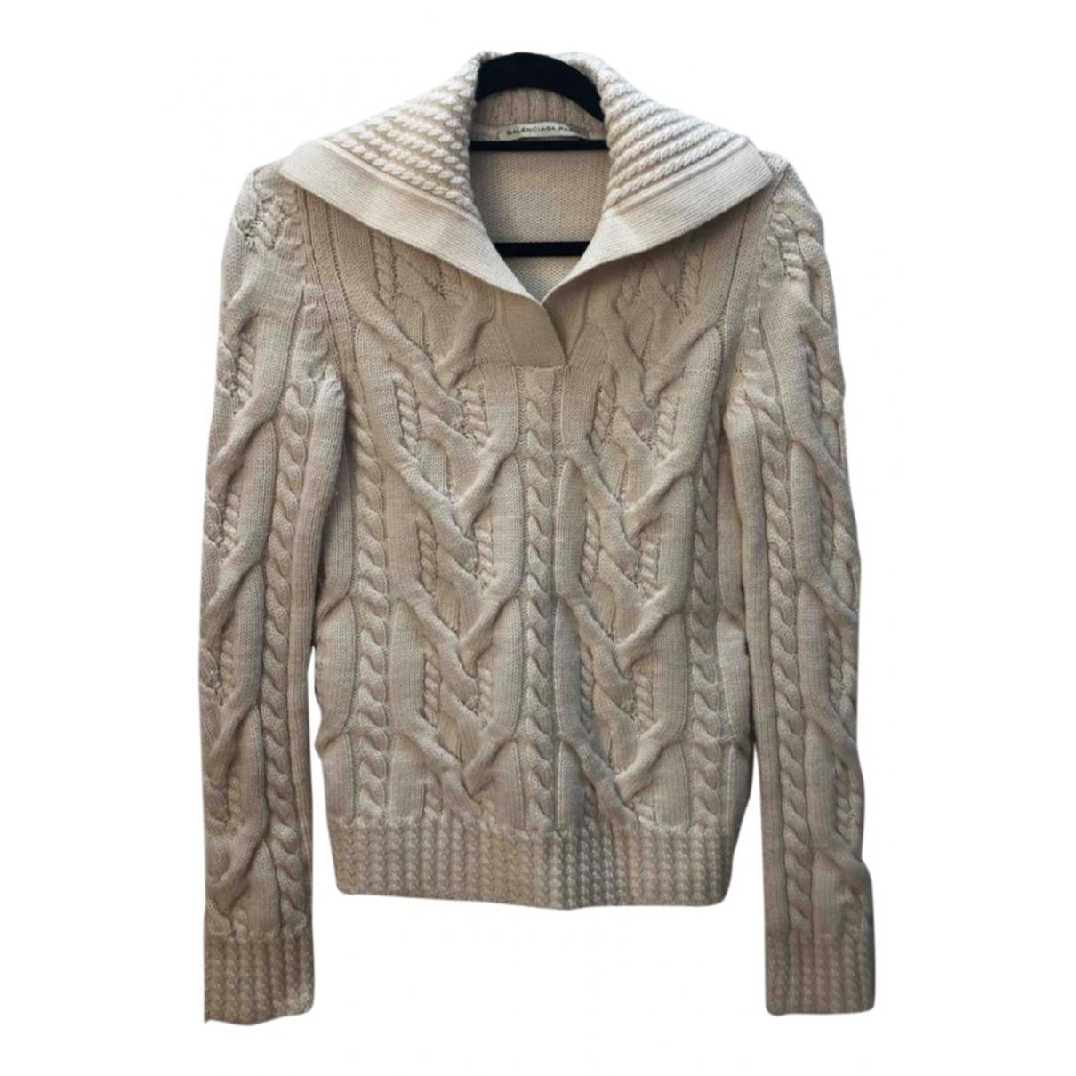 Balenciaga - Pull   pour femme en laine - beige