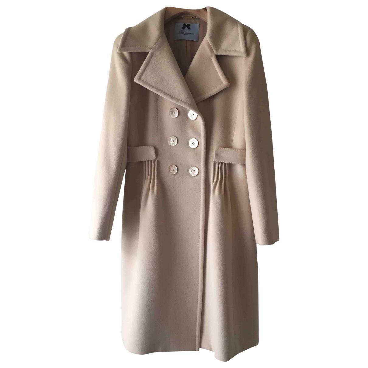 Blumarine \N Beige Wool coat for Women 44 IT